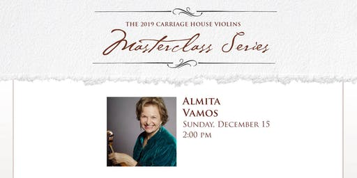 Almita Vamos Violin Masterclass
