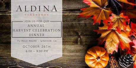 Aldina Vineyards Annual Harvest Celebration Dinner tickets