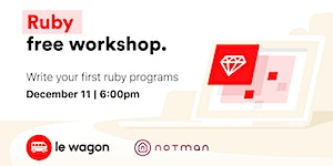 Le Wagon Workshop - Ruby for Beginners