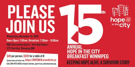 15th Annual Hope in the City Breakfast tickets