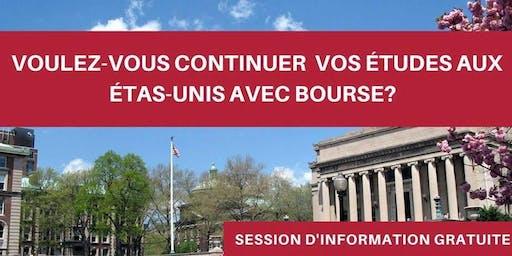 Session d'Information Gratuite à CASA - Bourses pour les Études Aux Etats-Unis.