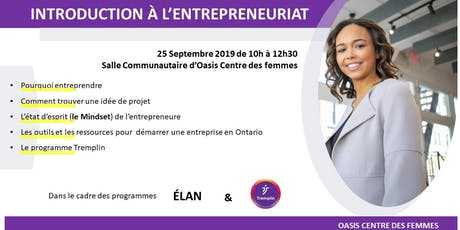 Introduction à l'entrepreneuriat tickets