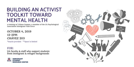 Building your activist toolkit toward mental health: A training focus on the mental health of immigrant & refugee communities