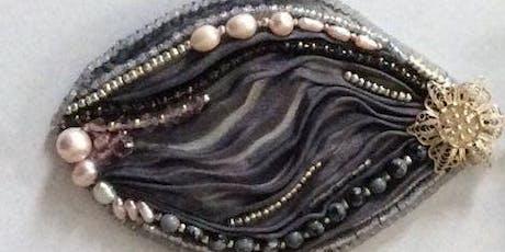 Bead Embroidery with Silk Shibori Ribbon tickets