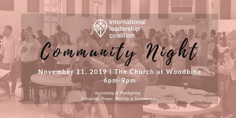International Leadership Coalition Community Night tickets