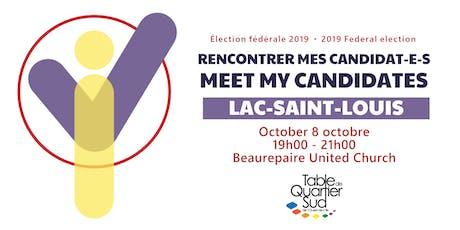 Recontrer mes candidat-e-s / Meet-My-Candidates billets