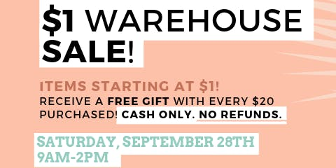 $1 Warehouse Sale - Fashion Accessories!