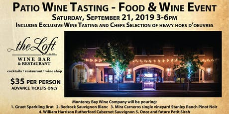 Patio Wine Tasting Food and Wine Event tickets