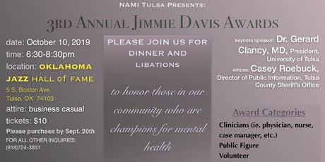 NAMI Tulsa Presents:  3rd Annual Jimmie Davis Awards Dinner  tickets