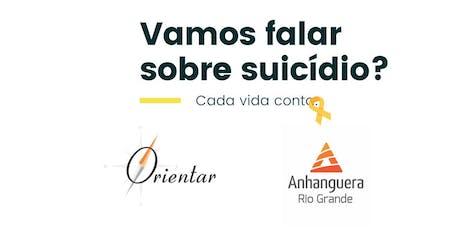 Setembro Amarelo: Vamos falar sobre suicídio? ingressos