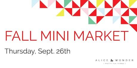 Fall Mini Market tickets