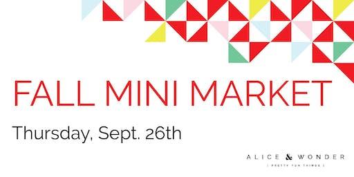 Fall Mini Market