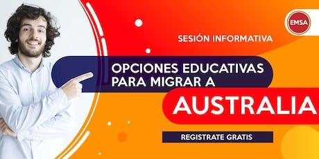 OPCIONES EDUCATIVAS PARA MIGRAR AUSTRALIA entradas