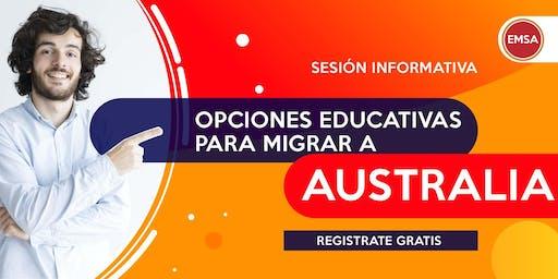 OPCIONES EDUCATIVAS PARA MIGRAR AUSTRALIA