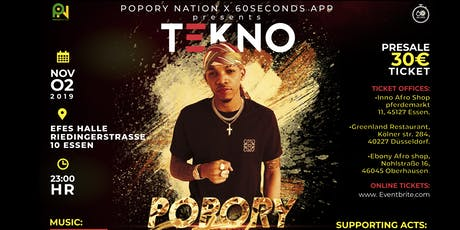 TEKNO LIVE IN ESSEN Tickets