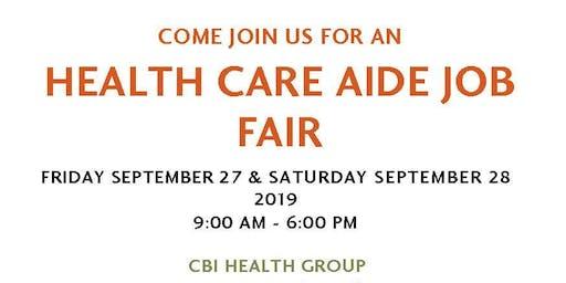 Health Care Aide Job Fair (  September 27 &  September 28 2019 )