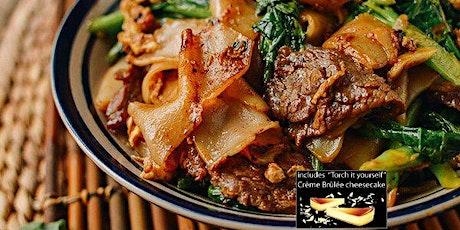 Date Night Thai Cooking Class: Drunken Thai Noodles & More w wine + dessert tickets