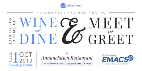 Allconnect Big Easy Wine & Dine tickets