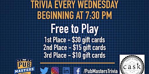 Pub Masters Trivia LIVE at Cask Social Kitchen - SoHo!