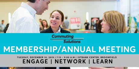Commuting Solutions December Membership/Annual Meeting tickets