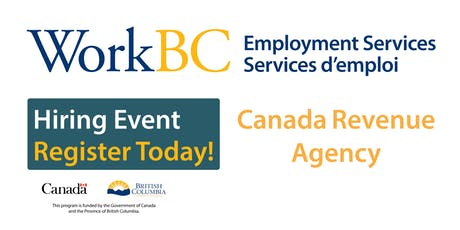 THE CANADA REVENUE AGENCY IS HIRING BILINGUAL (ENGLISH & FRENCH) CALL CENTRE AGENTS tickets