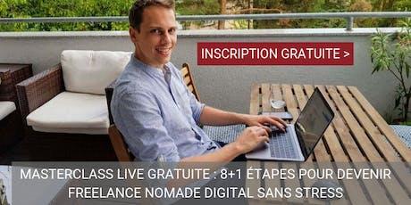 [BXL] Masterclass gratuite : 8 étapes pour Devenir Freelance Nomade Digital billets