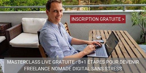 Lyon Masterclass gratuite : 8 étapes pour Devenir Freelance Nomade Digital