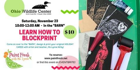 Block Print your own Holiday Cards tickets