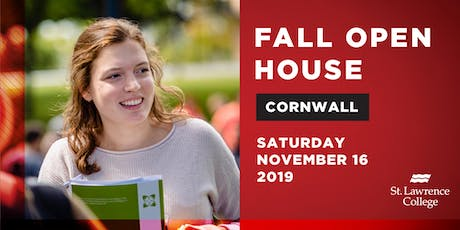 Fall Open House Cornwall Campus 2019 billets