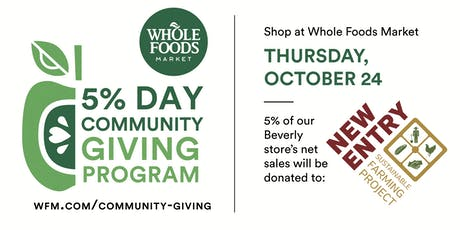 5% Community Giving Day benefiting New Entry Sustainable Farming Project tickets