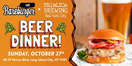 Bareburger & Big aLICe Brewing tickets