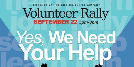 Marina Angelica Coryat Volunteer Rally