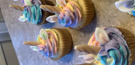 Craft and Sip with Wallflour Home Bakery - Mommy & Me Unicorn Cupcakes tickets