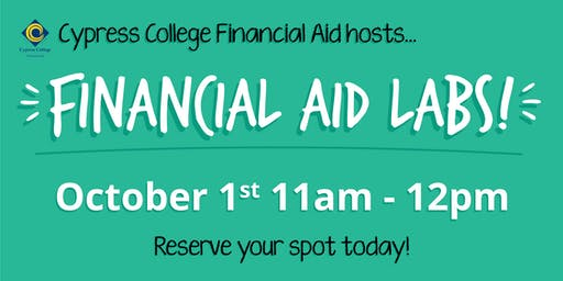 2020/2021 Financial Aid Lab - October 1st - 11am