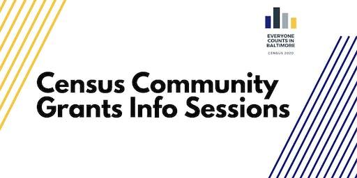 Census 2020 MULTILINGUAL Community Grants Info Session