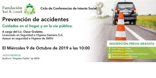 Conferencia: PREVENCIÓN DE ACCIDENTES - Modo PRESENCIAL