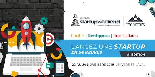 Startup Weekend Québec 2019