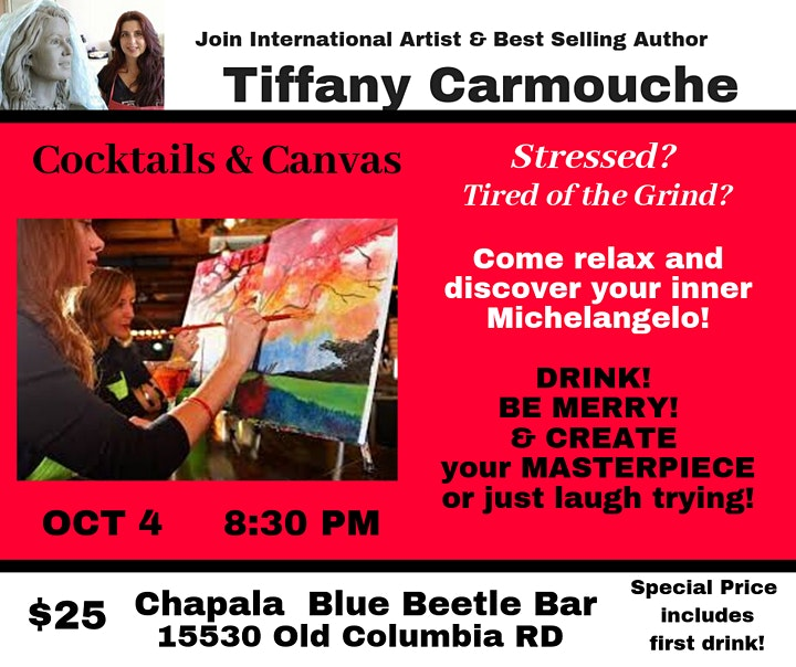 Paint Night! Cocktails and Canvas image