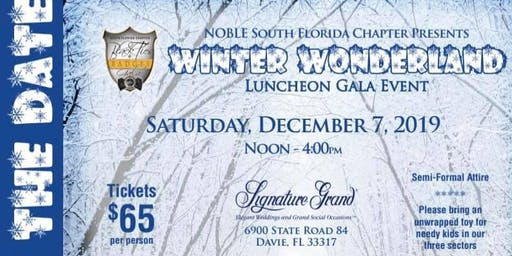 Noble South Florida 2019 Winter Wonderland Gala Event