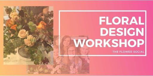 Floral Design + Wine Class