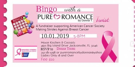 Bingo Fundraiser  with Pure Romance by Donna T Twist  tickets
