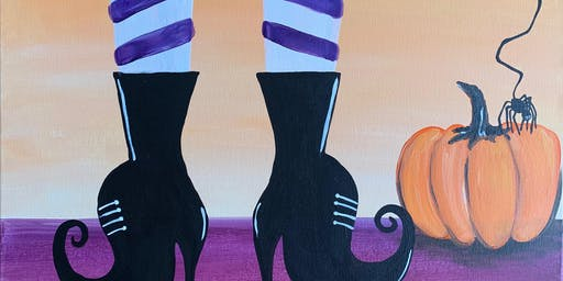 """If the Shoe Fits"" w/ Costume Contest Painting & Vino Event"