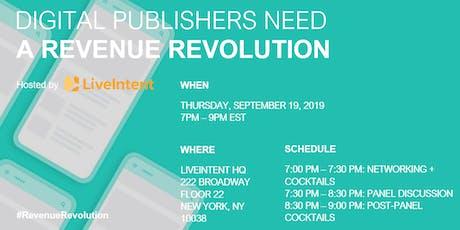 Digital Publishers Need a Revenue Revolution tickets