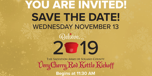 The Salvation Army Very Cherry Red Kettle Kickoff