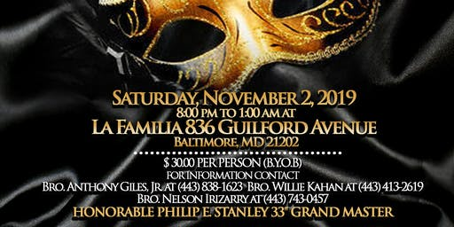 GRAND MASTER'S FALL MASQUERADE FLING & PINNING CEREMONY