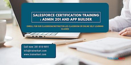Salesforce Admin 201 & App Builder Certification Training in  Flin Flon, MB tickets