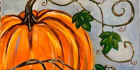 Paint and Sip Orange Fall Pumpkin October 20th tickets