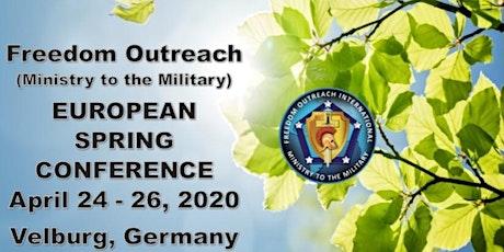 Freedom Outreach MTTM - European Spring Retreat 2020 Tickets