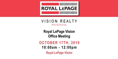 Royal LePage Vision Office Meeting tickets