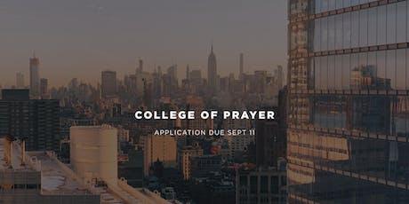 College of Prayer tickets